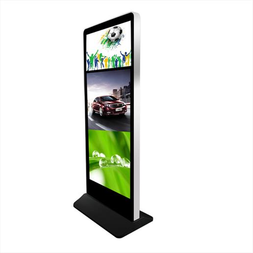 freestanding dual screen totem, dual freestanding digital sign, digital sign,screen, advertising display