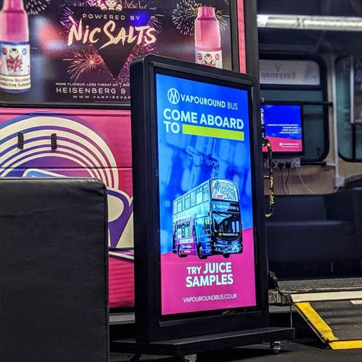 event hire, screen hire , digital signage hire, freestanding touch screen, digital totem, digital a board