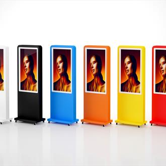 "43"" - 49"" Portrait Freestanding Digital Display - Any colour available"