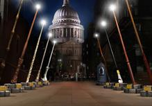 Harry Potter Digital Signage, Magic Wands, st pauls cathedral, london digital signage, outdoor screen hire
