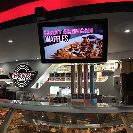restaurant screen,menu screen,menu,cafe screen, wall mount screen,advertising screen